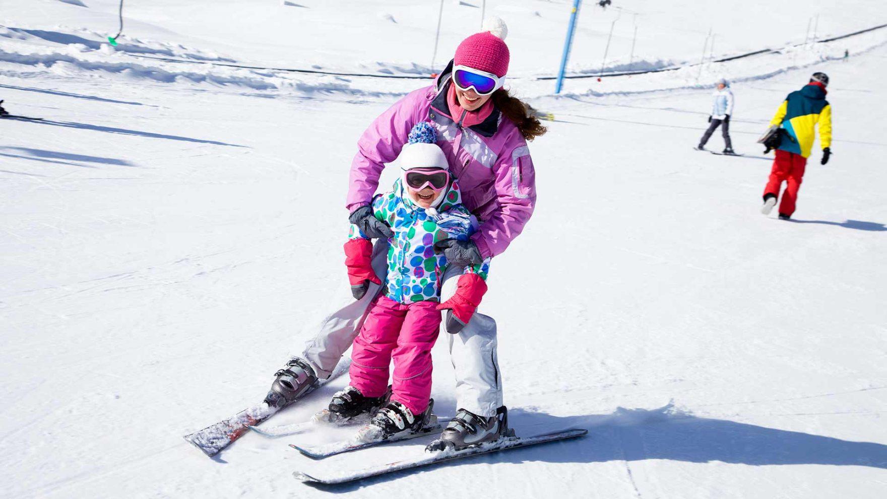 Skifahren mit der Familie - Meran