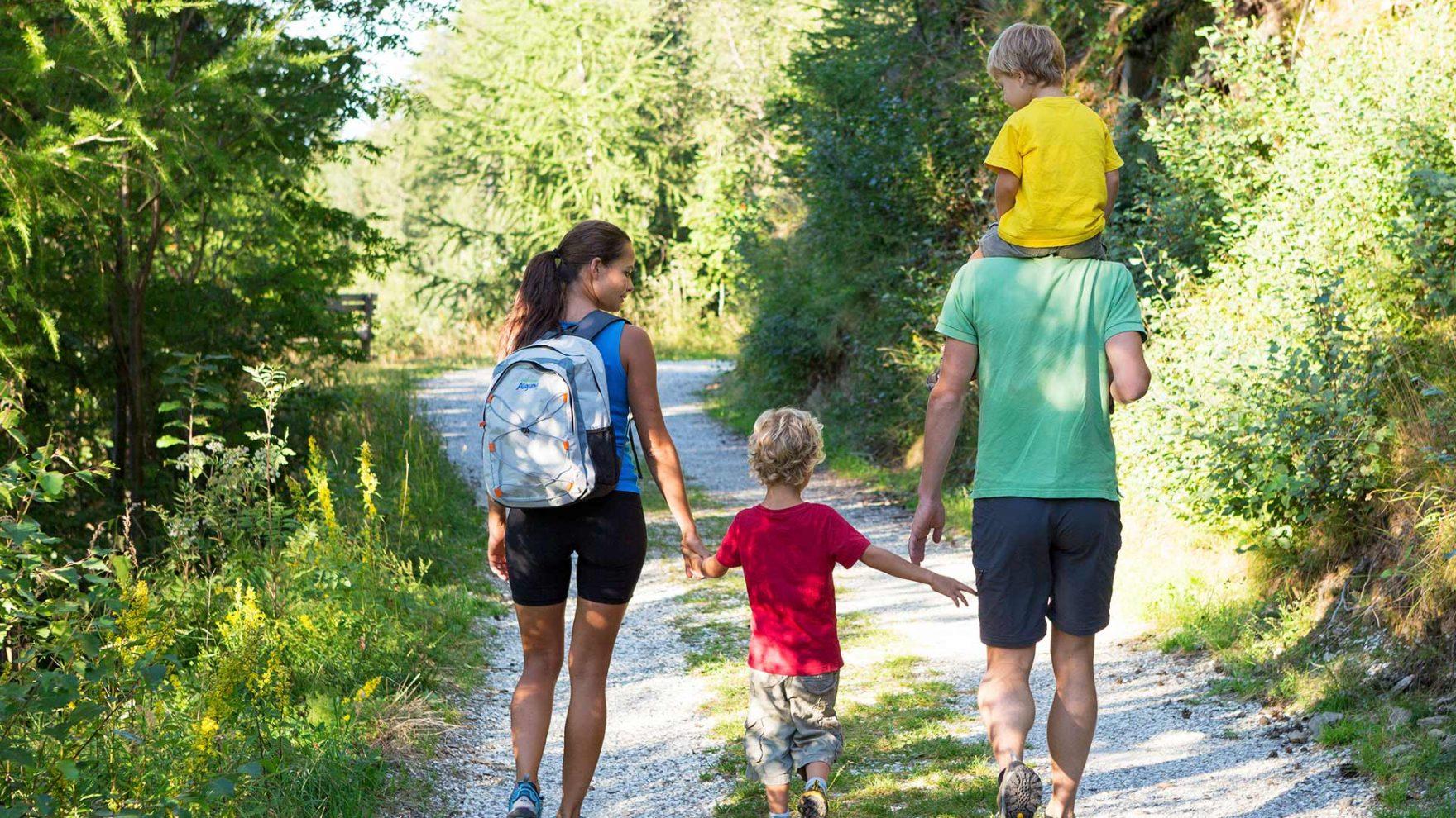 Wandern mit der Familie in Meran