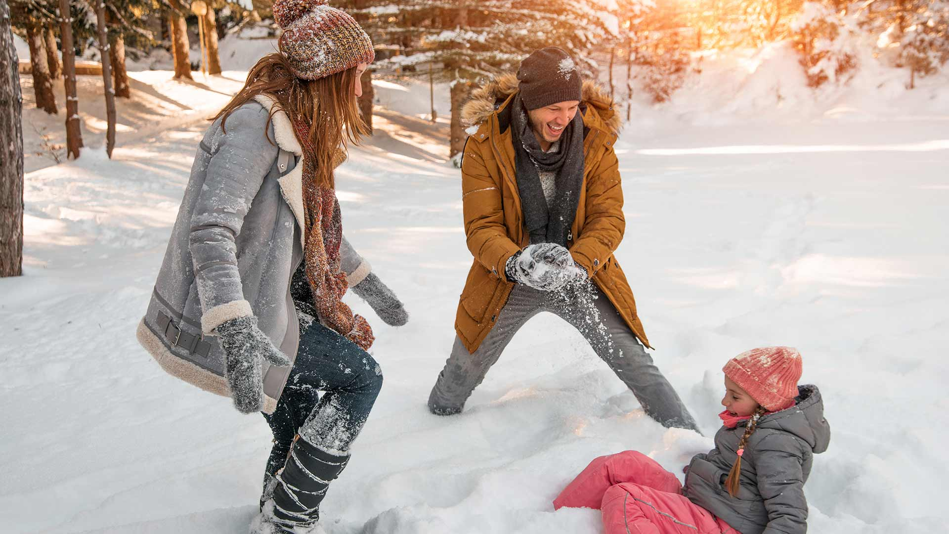 Spaß im Schnee - Familie