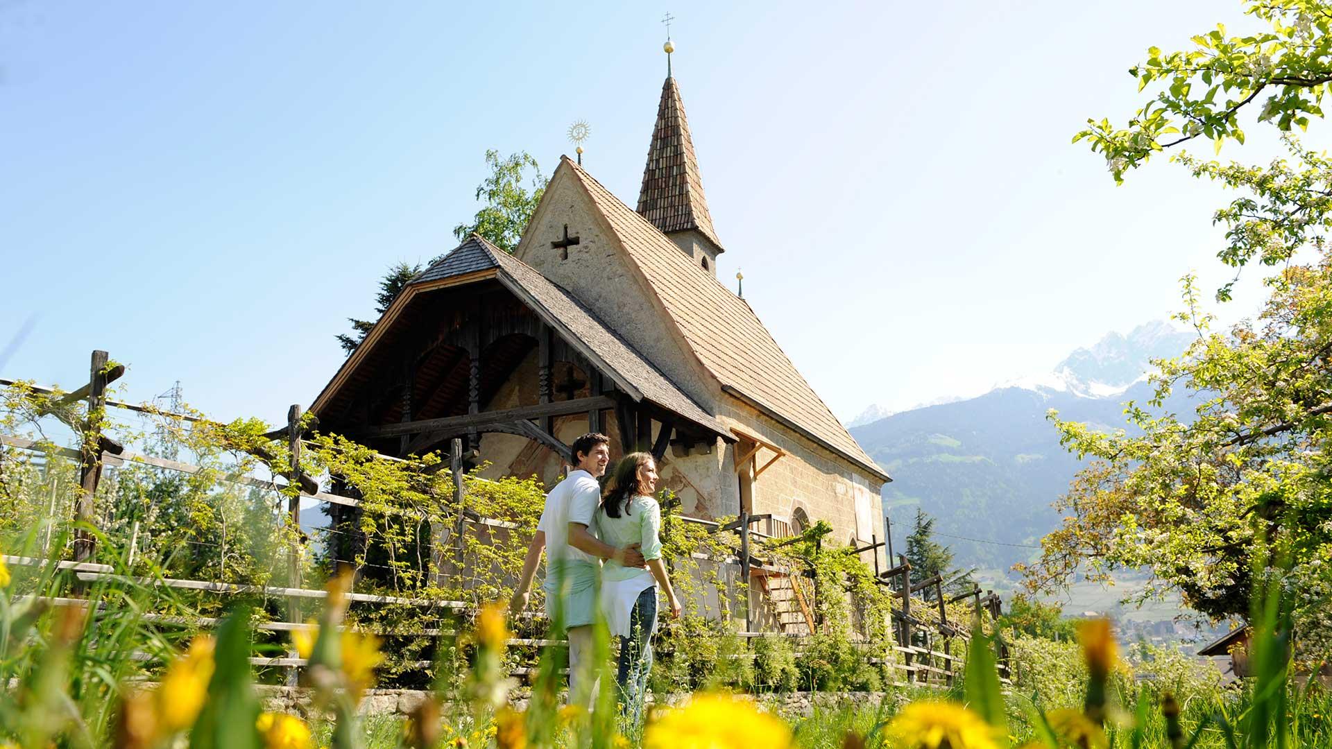 Spaziergang in Dorf Tirol