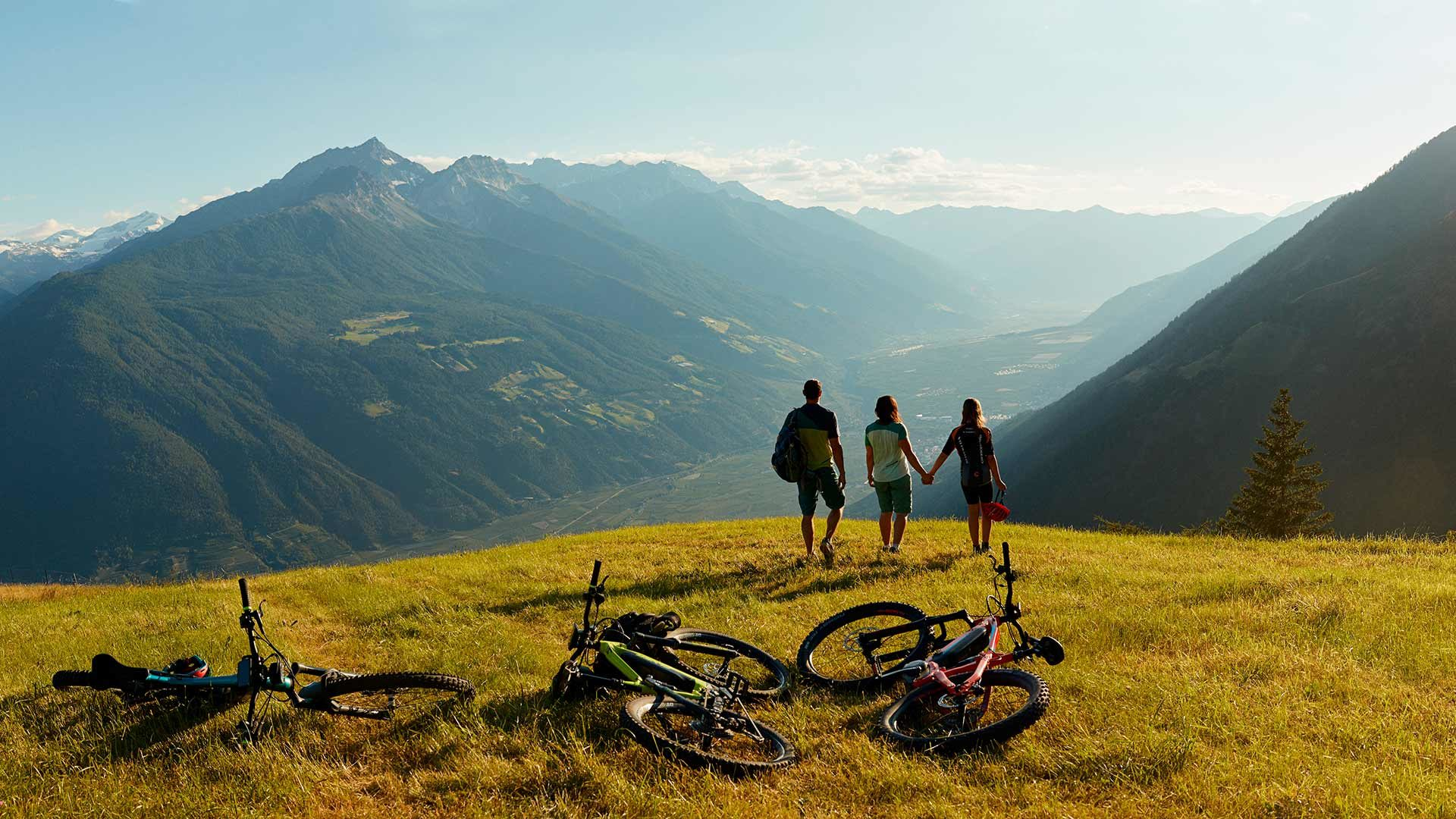 Mountainbiketour auf das Vigiljoch