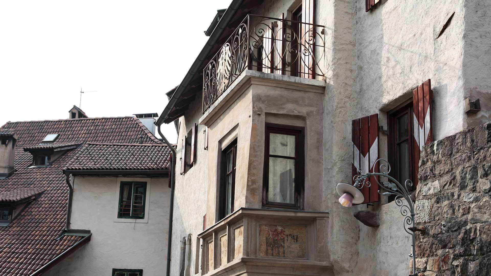 Das Steinach Viertel in Meran