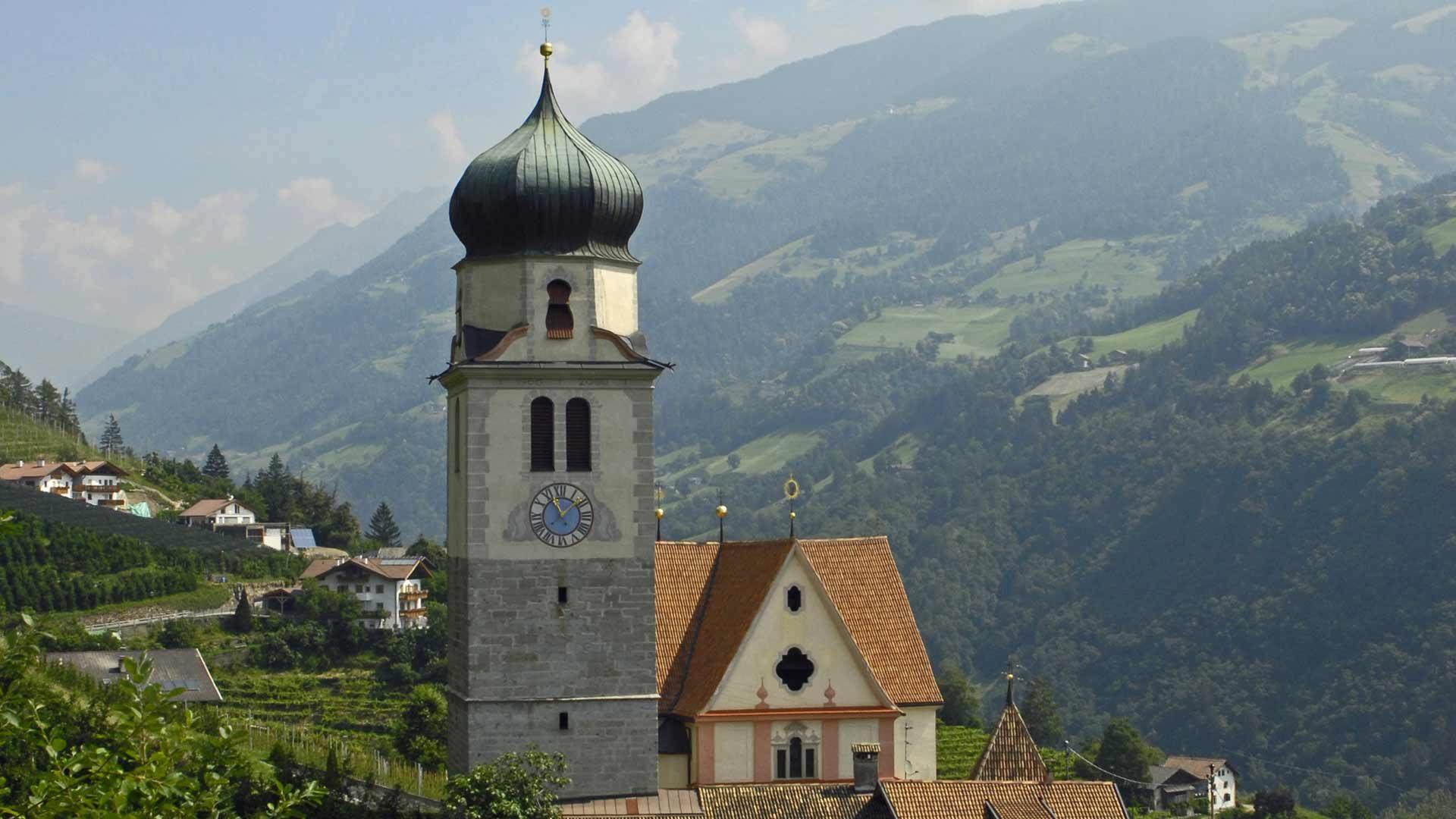 Die Wallfahrtskirche von Riffian