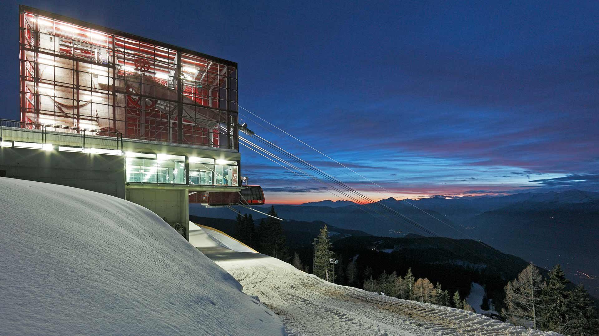 Skigebiet Meran 2000 - Abendstimmung