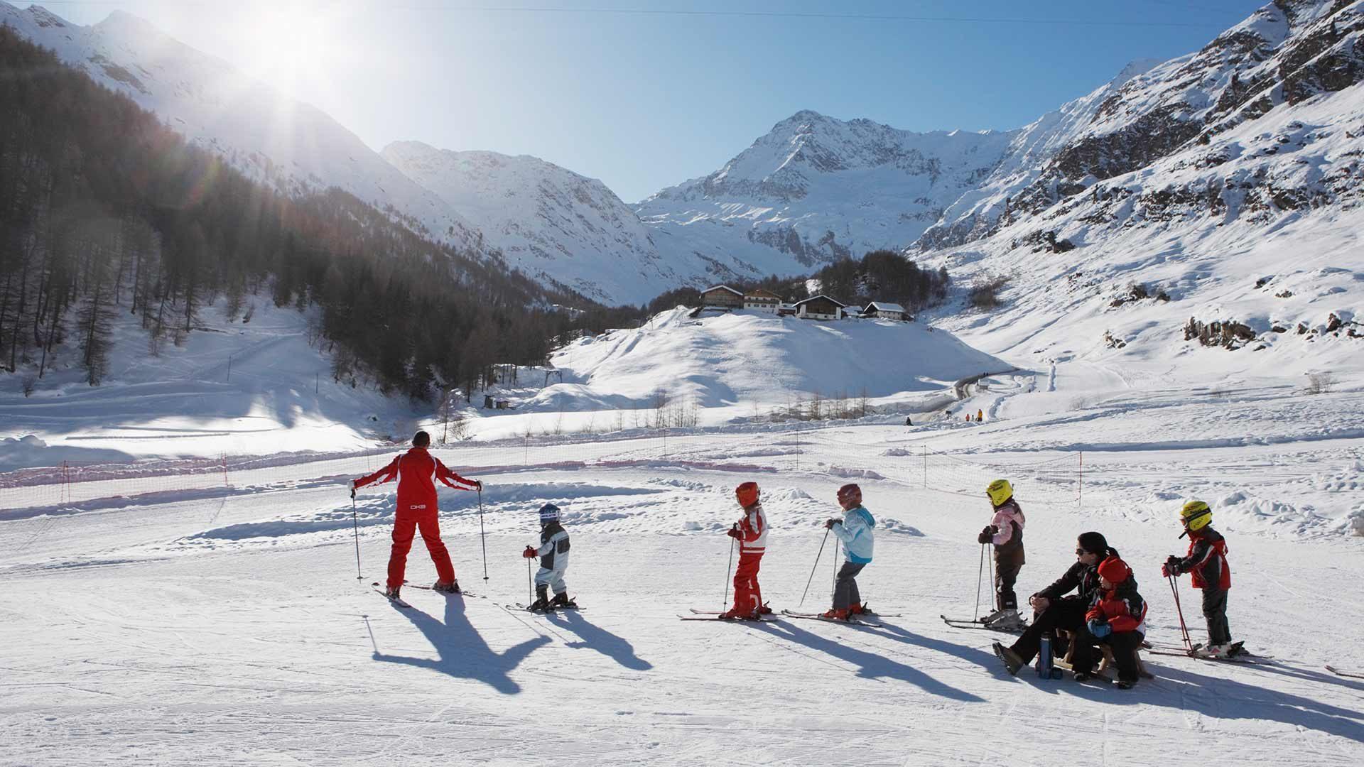 Skigebiet Pfelders in Südtirol