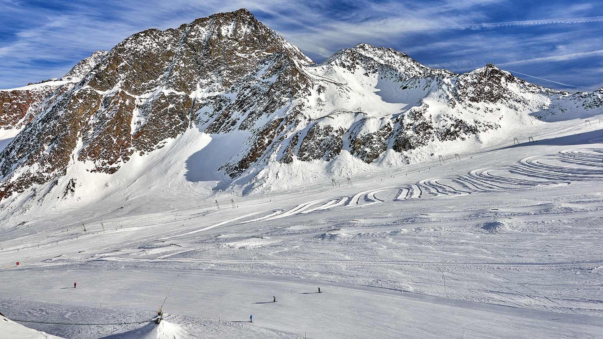 Skifahren in Südtirol am Gletscher