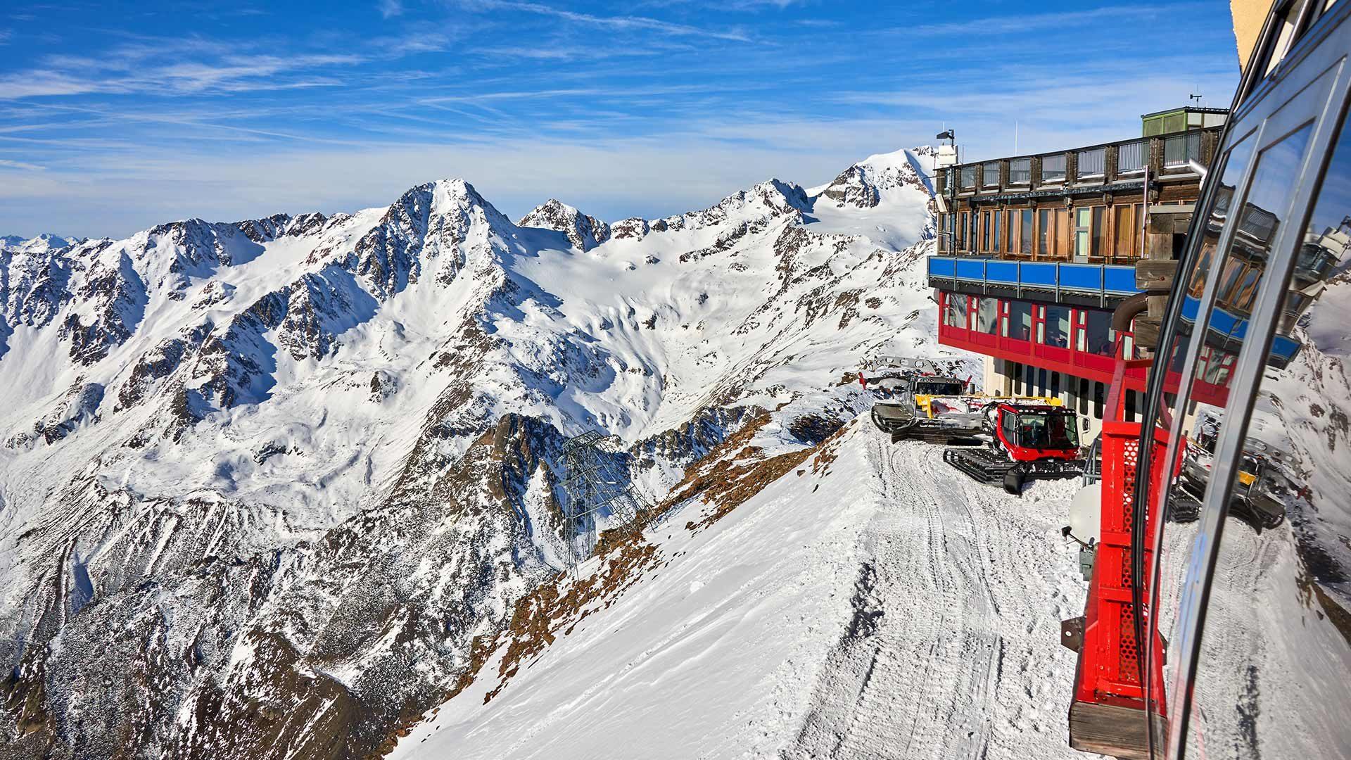 Bergstation der Gletscherbahn - Schnals