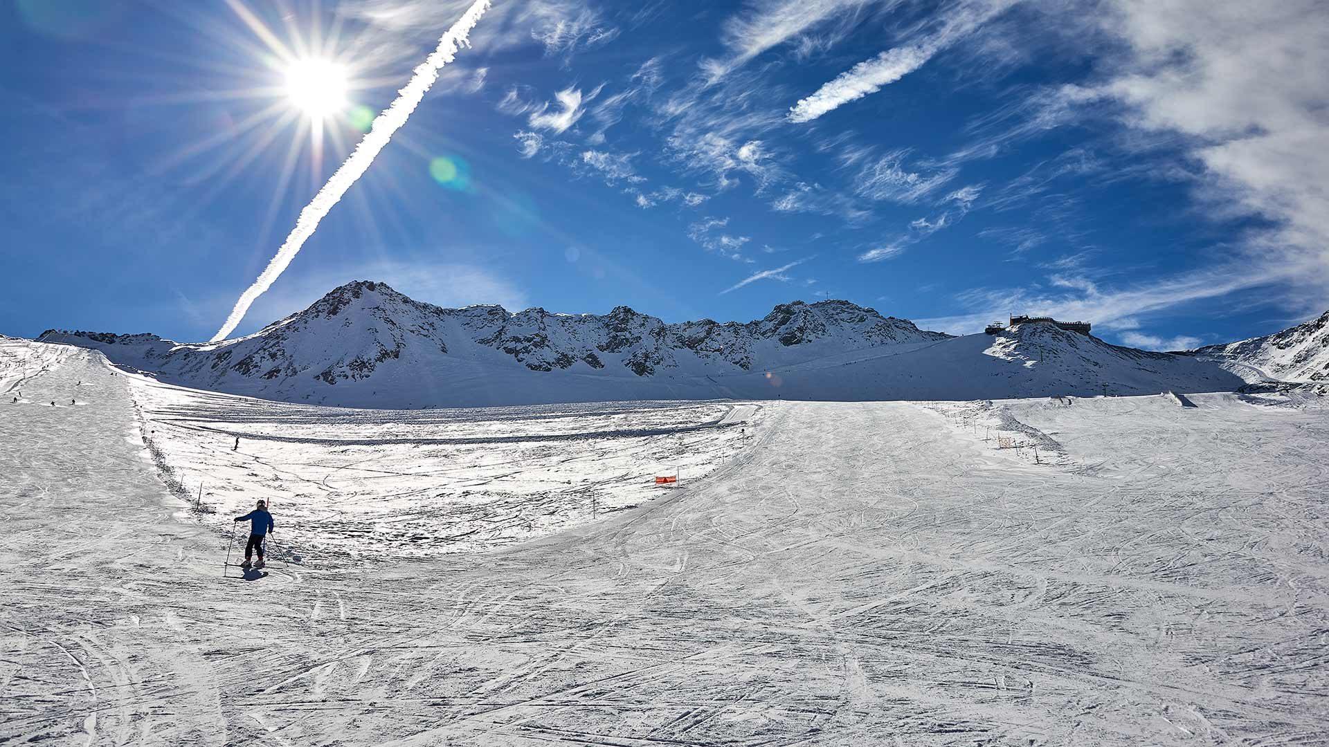 Skigebiet im Schnalstal