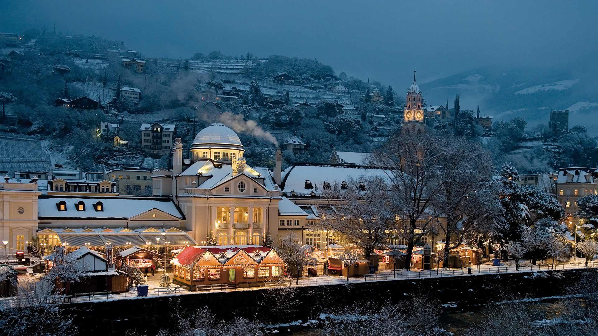 Weihnachtsmarkt Meran - Schnee